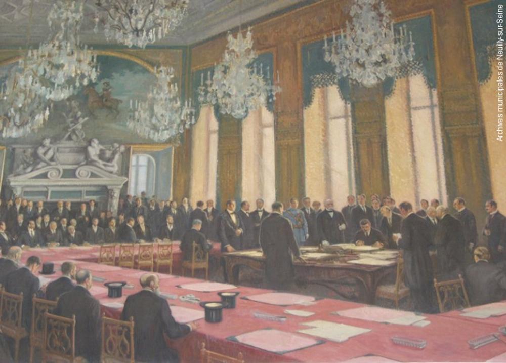 Frescă reprezentând semnarea Tratatului de Pace cu Bulgaria