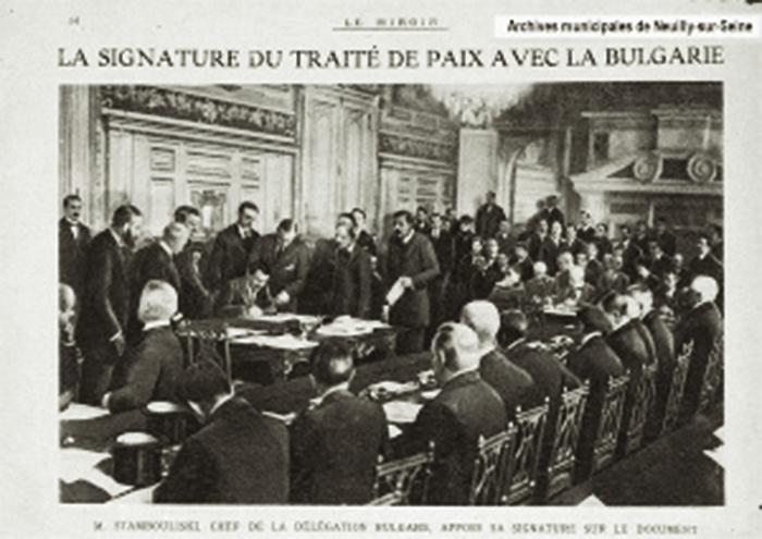 Semnarea Tratatului de pace de la Neuilly cu Bulgaria