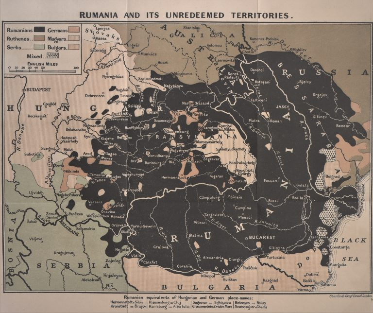 Harta etnografică a României