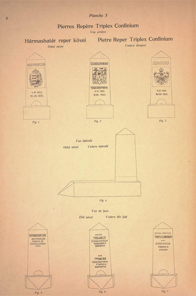 Stabilirea modelului și tipului bornelor de la frontierele dintre România, Cehoslovacia și Ungaria, 27 iunie 1925