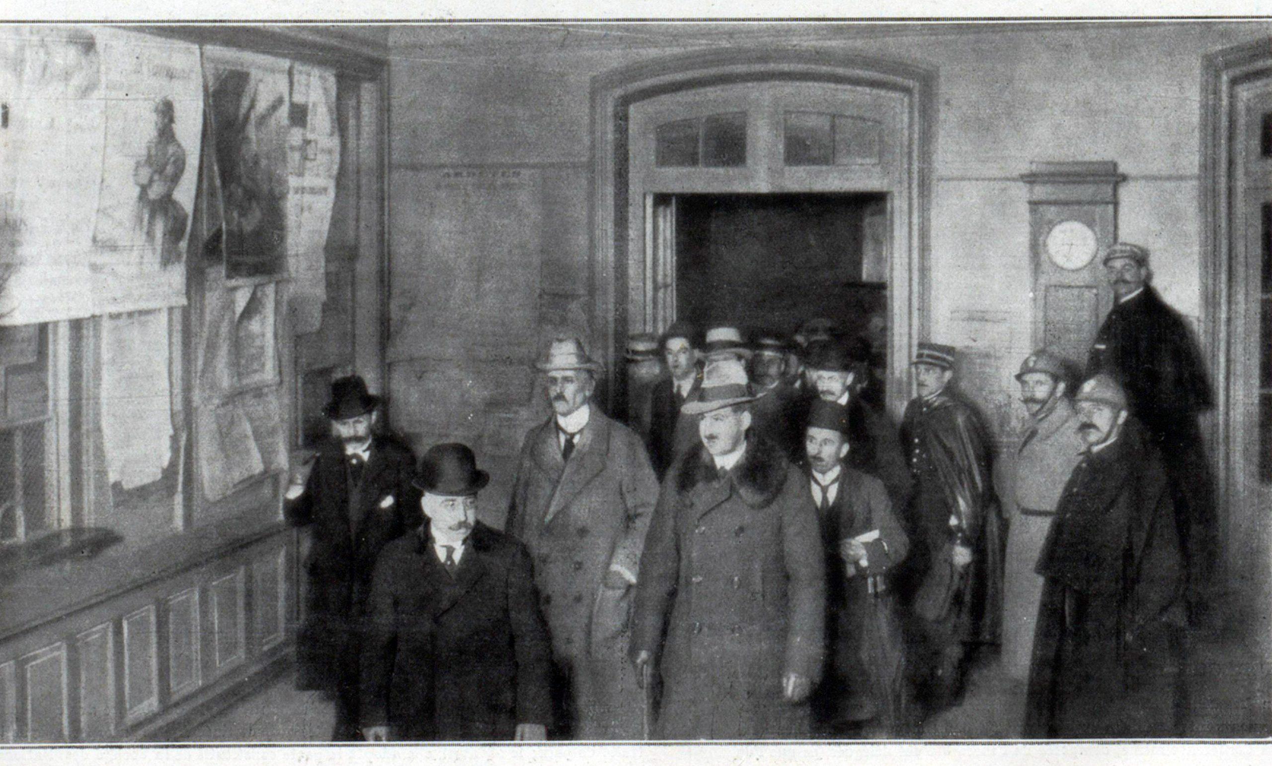 Sosirea delegației germane la Versailles, aprilie 1919